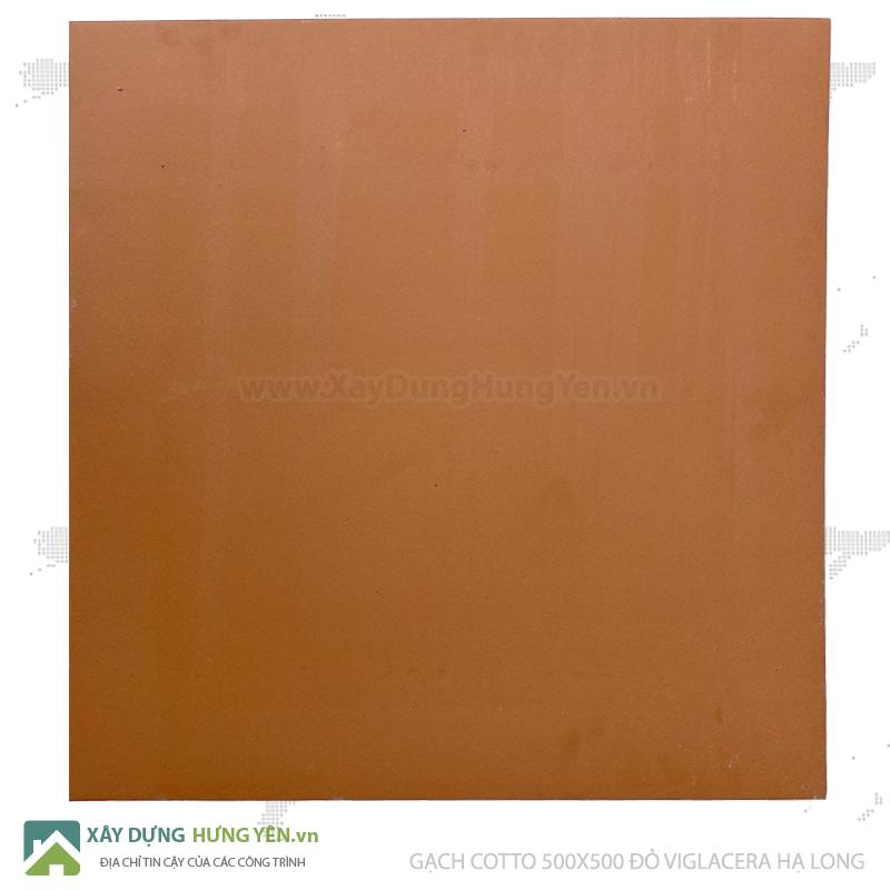 Gạch cotto Viglacera Hạ Long 500x500 đỏ