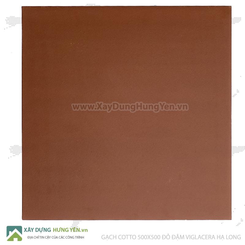 Gạch cotto Viglacera Hạ Long 500x500 đỏ đậm