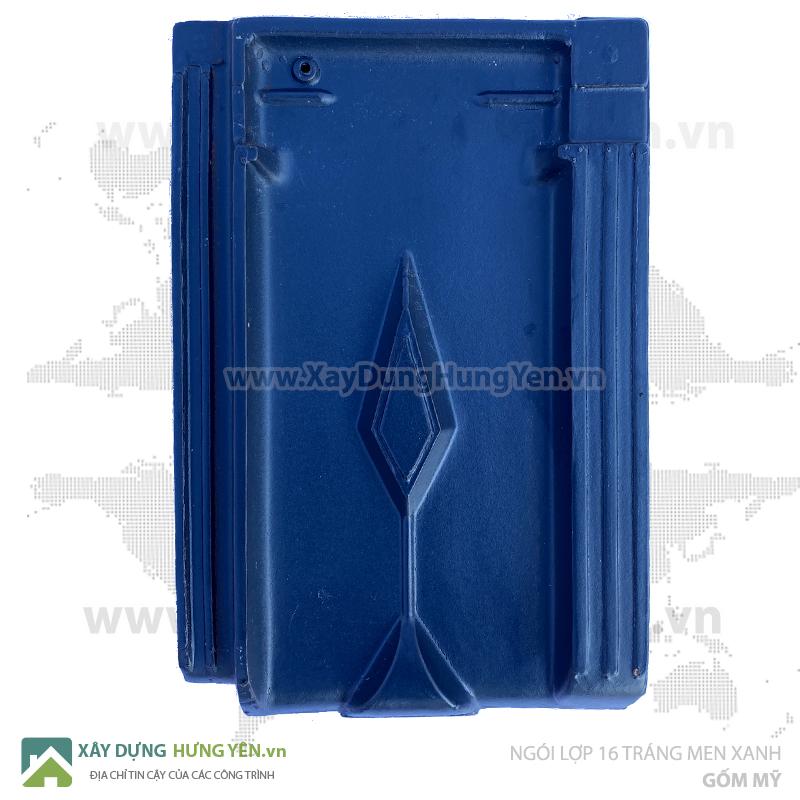 Ngói lợp Gốm Mỹ 16v/m tráng men xanh