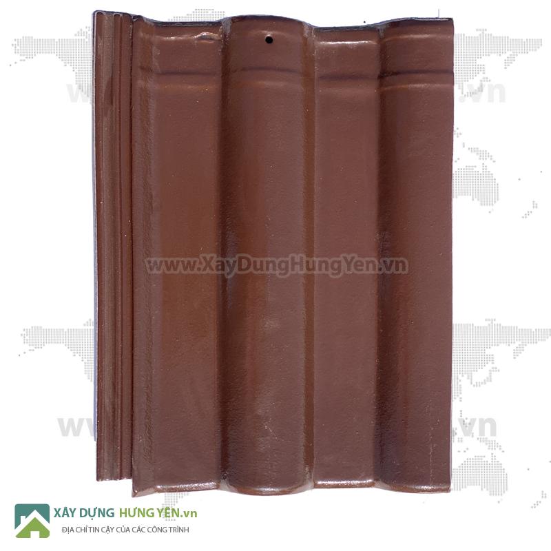Ngói lợp hai sóng  tráng men Viglaera  Hạ Long Vi-CLIN 10 v/m2 Chocolate