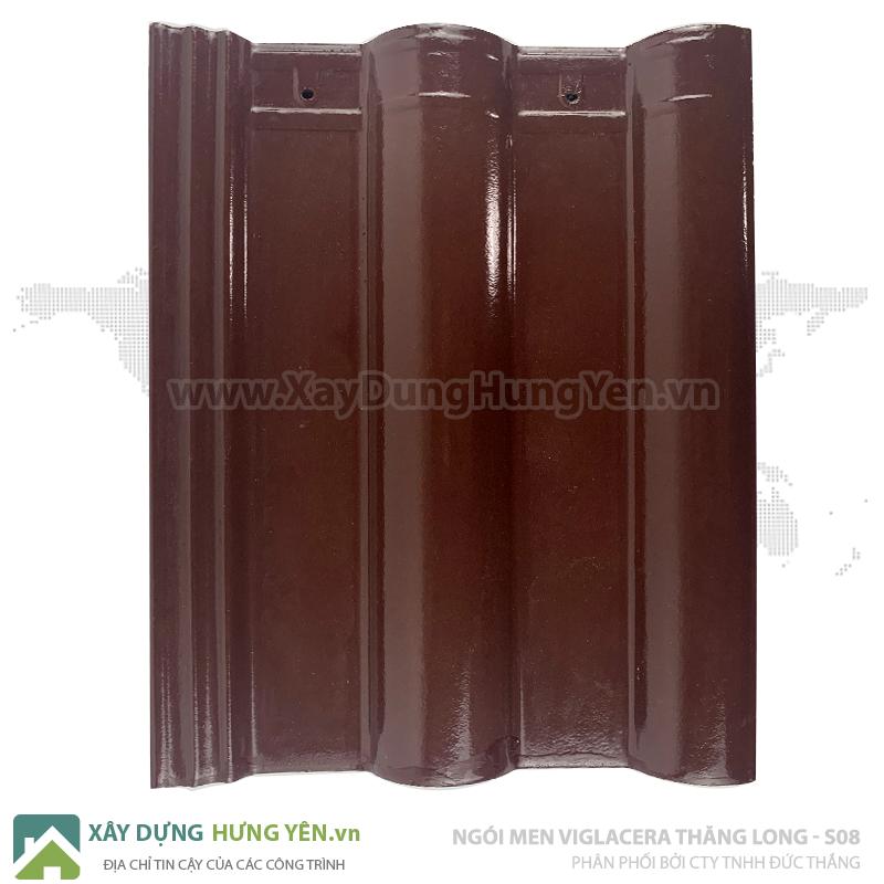 Ngói sóng tráng men nâu chocolateViglacera Thăng Long S 08