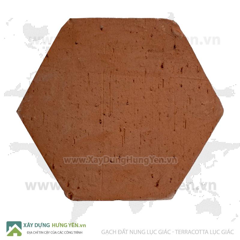 Gạch đất nung lục giác - gạch terracotta lục giác cổ
