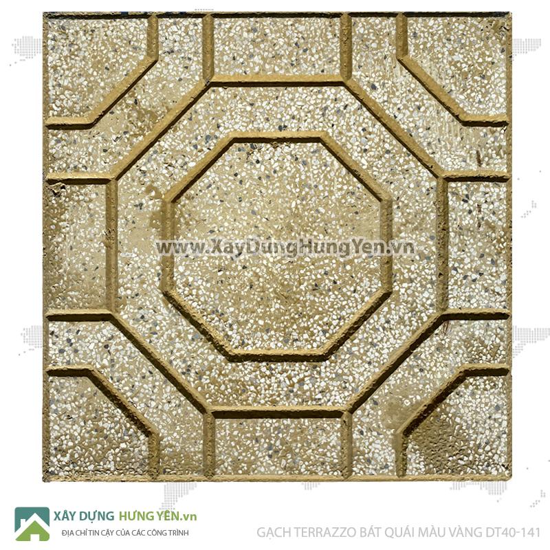 Gạch lát vỉa hè Terrazzo 400x400 bát quái Vàng DT40-141
