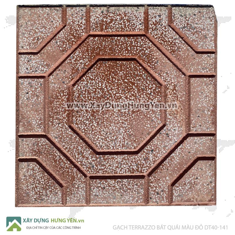 Gạch lát vỉa hè Terrazzo 400x400 bát quái đỏ DT40-141